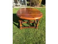 Solid cherrywood drop leaf coffee table ( can deliver )