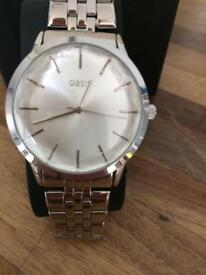 Oasis silver ladies watch