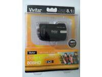 Vivitar HD808 digital camcorder, new and unused in original packaging