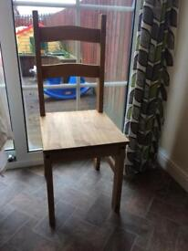 3 x Wooden Dinning Room Chairs