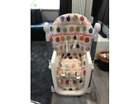 Adjustable highchair.