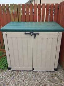Garden storage lockable storage box waterproof