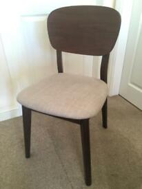 Walnut and grey retro style chair (Ex Display)