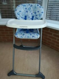 Blue Mothercare high chair