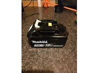 Makita 18 volt lithium ion battery brand new.