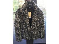 Faux Fur Next Petite Jacket size 14
