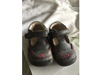 Clarks baby girls first shoes 3.5 F