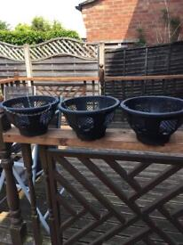 3 easy fill hanging baskets