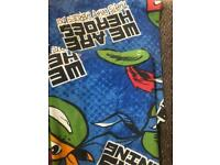 Ninja turtles duvet cover,pillowcase and curtains
