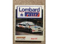 Lombard RAC Rally game for Atari ST: Rare - Excellent condition