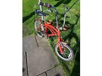 Vintage retro bike. Rhino. Like Raleigh chopper.