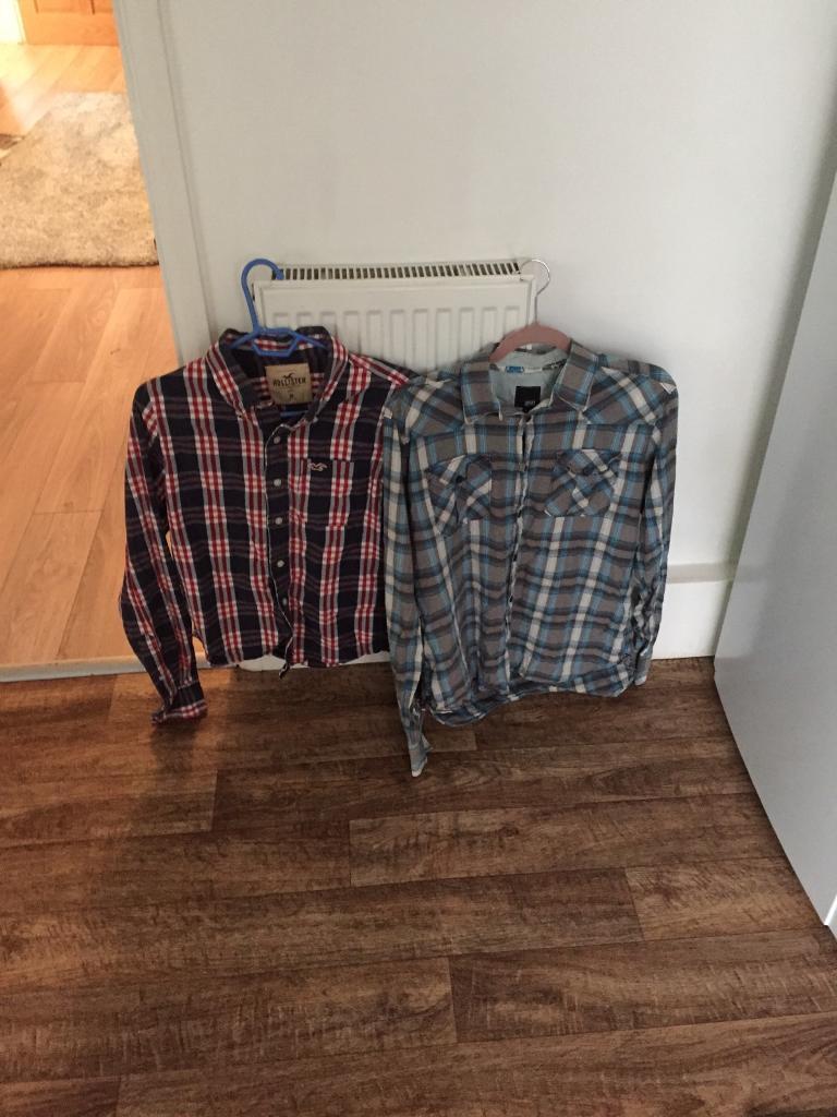 Left hollister shirt Right jack jones shirt
