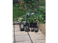 Oil filled garden lanterns