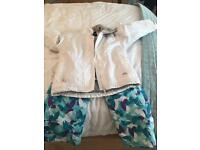 Girls ski clothing trousers and jacket