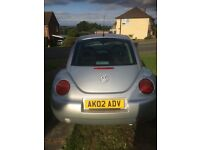 Bargain Silver VW Beetle 2.0