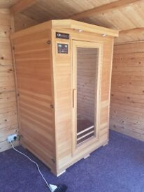 Infrared 2 person Sauna with buolt in stereo syste.