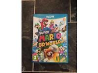 Wii U game super Mario 3D world. New condition Having a clear out