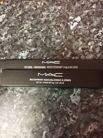Two MAC One Masara Waterproof & Eye Pencil New Boxef £6