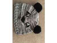 Women's panda cap