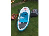 """*REDUCED £647 * RED 9'8"""" SUP Inflatable Stand Up Paddleboard Package"""