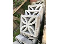 Concrete flower squares