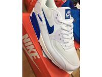 Nike air max 90 wht/hyp blue 6,7,8,9,10,11