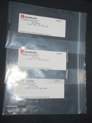 Lot 3 Supelco 0.007 Id X 116 Od X 5cm Capillary Tubing Black Band 56713