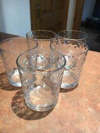 Set of 5 glass tumblers