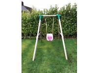 Little tikes wooden swing