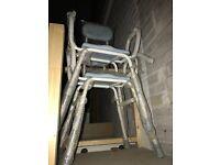 Freestanding shower chairs