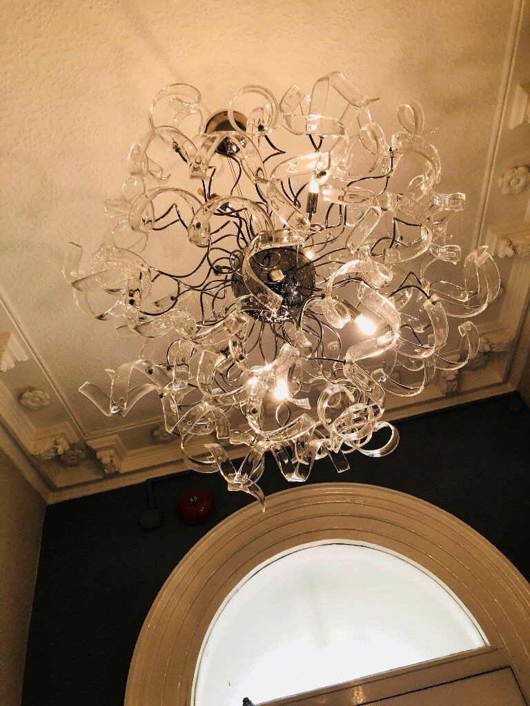 Ceiling glass light & 2 matching wall lights | in Edgbaston, West ...