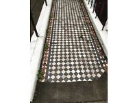 Reclaimed Victorian/Edwardian Path Tiles