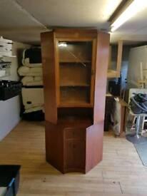 Vintage wood corner unit