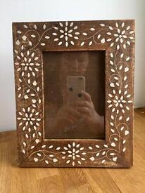HABITAT Floral Design Wooden Photo Frame - 6 x 4 inch '' Rustic Shabby Chic