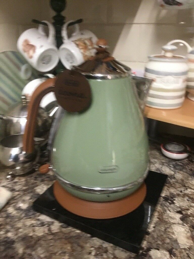 Delonghi Icona Vintage Style Jug Kettle In Sage Green In