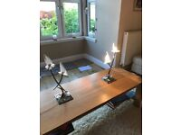 Ceiling lights and table lamps