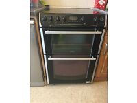 Electric cooker with double oven