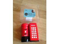 POSTBOX & TELEPHONE BOX SALT & PEPPER SHAKER