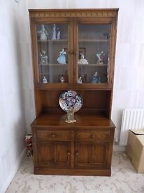 ERCOL Dresser - Sideboard - Bookcase - Display Cabinet In Excellent Condition.
