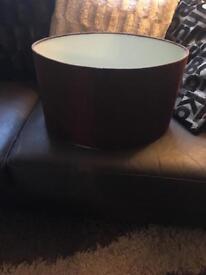 Large brown lampshade
