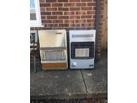 X2 Portable Gas Cabinet Heaters with an empty gas bottle