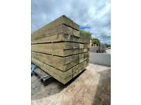 New Timber Railway Sleepers ~ Pressure Treated