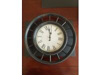 Brown Rustig Wall Clock - Brand New - Antique Style