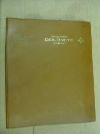 Original BL Triumph Dolomite Sprint Workshop Repair Manual