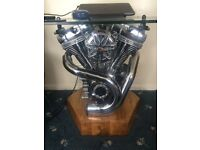 one off harley davidson tv/coffee table