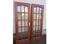 Double hardwood doors
