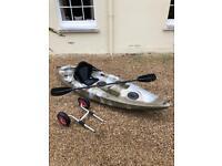 Green Sea Kayak Canoe For Sale - inc paddles for Fishing