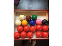 Junior Snooker balls