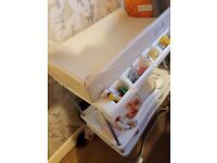 All in one baby changer ,bathtub 2 trays for baby clothes etc.
