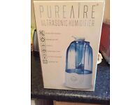 PureAire 12094 Ultrasonic Humidifier with 3 Litre Tank, White/Blue